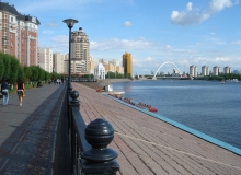The river embankment Ishim