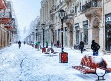Baku, Winter, Nizam street