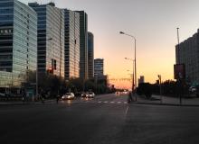 Crossroads st. Akmeshit and st. Kunaev