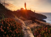 Lighthouse of Cabo Maior - rises in the very north of the city of Santander, over huge steep cliffs.