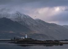 Lighthouse on Shona island. Scotland
