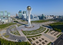 Bayterek Tower -  is a monument and observation tower in Astana, the capital city of Kazakhstan.